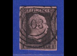 Altdeutschland Preußen 1 Sgr. schwarz auf rosa Mi.-Nr. 2a gestempelt