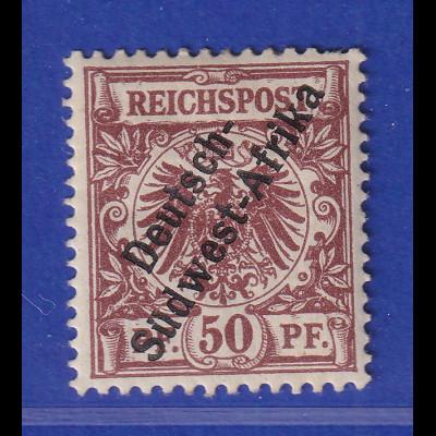 Deutsch-Südwestafrika Mi.-Nr. II ungebraucht *, oben 1 Fehlzahn