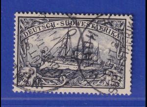 Deutsch-Südwestafrika 3 Mark-Wert Mi.-Nr. 22 gest WINDHUK