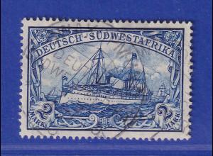 Deutsch-Südwestafrika 2 Mark-Wert mit Wz. Mi.-Nr. 30A zart gest. SWAKOPMUND