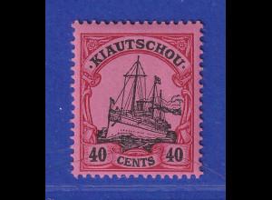 Deutsche Kolonien Kiautschou 40 C. Mi.-Nr. 23 ungebraucht *
