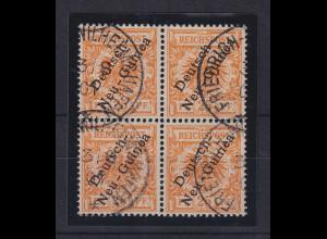 Deutsch-Neuguinea 1.Ausgabe 25Pfg Mi.-Nr. 5a Viererblock gestempelt
