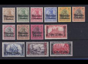 DAP Marokko 1905 Mi.-Nr. 21-33 kpl. Satz 13 Werte ungebraucht *