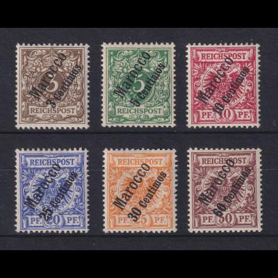 DAP Marokko 1. Ausgabe 1899 Mi.-Nr. 1-6 kpl. Satz 6 Werte ungebraucht *
