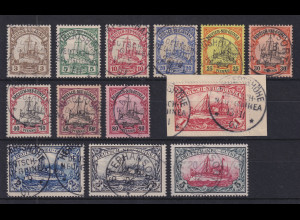 Deutsch-Neuguinea 1900 Mi.-Nr. 7-19 Satz kpl. O