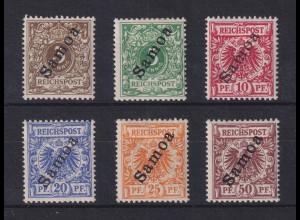 Deutsche Kolonien Samoa Mi.-Nr. 1-6 Satz 6 Werte kpl. ungebraucht*