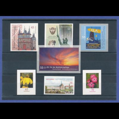 Bundesrepublik alle selbstklebenden Briefmarken des Jahrgangs 2009 komplett **