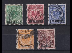 DAP Türkei 1889 Mi.-Nr. 6-10 Satz 5 Werte kpl. gestempelt