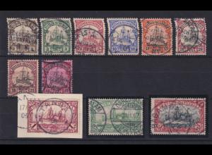 Deutsch-Ostafrika Mi.-Nr. 11-21 Satz 11 Werte kpl. gestempelt