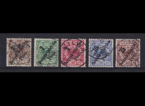 Deutsch-Ostafrika 1896-99 Mi.-Nr. 6-10 Satz 5 Werte kpl. gestempelt