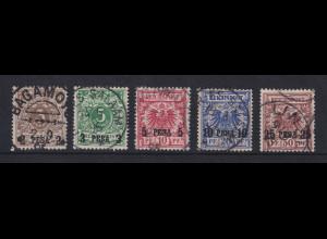 Deutsch-Ostafrika 1893-96 Mi.-Nr. 1-5 Satz 5 Werte kpl. gestempelt