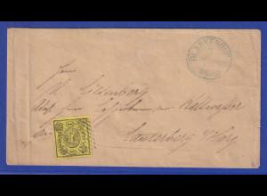 Altdeutschland Braunschweig 1Sgr. gelb Mi.-Nr. 11 auf Brief aus BLANKENBURG