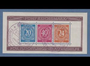 Alliierte Besetzung 1946 Briefmarken-Ausstellung Mi.-Nr. Block 12A O gepr. BPP
