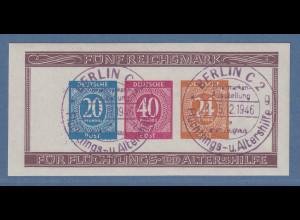 Alliierte Besetzung 1946 Briefmarken-Ausstellung Mi.-Nr. Block 12B O gepr. BPP