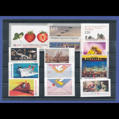 Bundesrepublik alle selbstklebenden Briefmarken des Jahrgangs 2010 komplett **