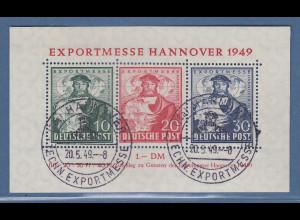 Bizone 1949 Blockausgabe EXPORTMESSE Hannover Mi.-Nr. Block 1 O gpr. Schlegel