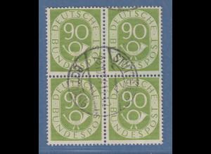 Bund Posthornsatz 90-Pfennig-Wert Mi.-Nr. 138 Viererblock O STUTTGART-BOTNANG