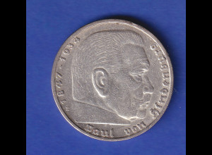 5-Reichsmark Silbermünze Hindenburg mit Reichsadler 1935 E