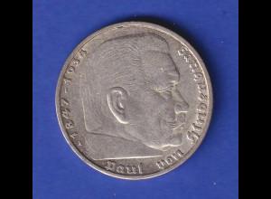 5-Reichsmark Silbermünze Hindenburg mit Reichsadler 1935 A