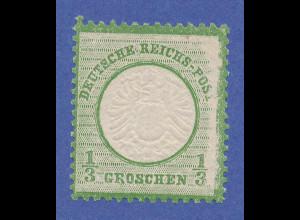 Dt. Reich großer Brustschild, Mi.-Nr. 17b * , rechts mit starkem Druckausfall !