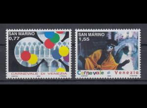 San Marino 2004 Karneval in Venedig Mi.-Nr. 2137-38 Satz 2 Werte **