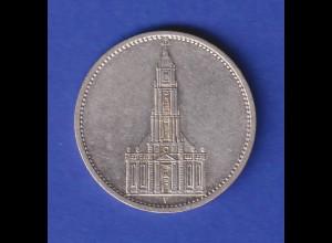 5-Reichsmark Silbermünze Garnisonkirche 1934 F