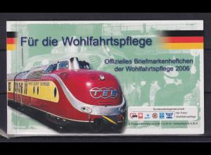 Bundesrepublik 2006 Wohlfahrts-Markenheftchen mit 4x Eisenbahnen Mi.-Nr. 2562 **