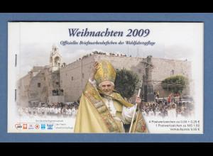 Bundesrepublik Weihnachten 2009 Wohlfahrts-MH mit 4x Mi-Nr 2764 und Israel-ATM