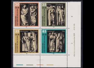 DDR 1983 Uta vom Naumburg 4er-Block Mi.-Nr. 2808-11 mit DV **