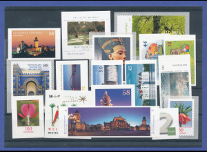 Bundesrepublik alle selbstklebenden Briefmarken des Jahrgangs 2013 komplett **
