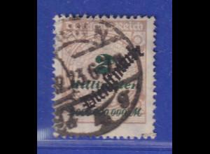 Dt. Reich Dienstmarke Inflation 2 Milliarden Mi.-Nr. 84 O gepr. Infla. Düntsch