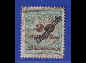Dt. Reich Dienstmarke Inflation 20 Milliarden Mi.-Nr. 87 O gepr. Infla.