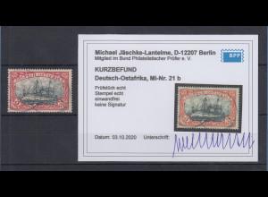Dt. Kolonien Deutsch-Ostafrika 3 Rupien Mi.-Nr. 21b gestempelt, Kurzbefund BPP