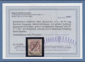 Dt. Kolonien Marshall-Inseln Berliner Ausgabe 50Pfg. Mi-Nr.6 II gest. Befund BPP