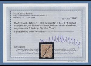 Dt. Kolonien Marshall-Inseln 3Pfg. Mi-Nr. 7b ungebraucht * mit Befund BPP