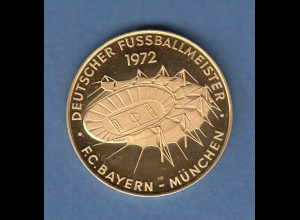 Gold-Medaille Fussball FC Bayern München Olympiastadion 1972 10,50g 900er Gold