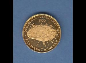 Gold-Medaille Fussball FC Bayern München Olympiastadion 1972 3,52g 900er Gold