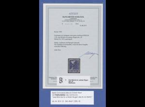 Berlin 1948 Schwarzaufdruck 5 Mark, O, mit Aufdruck-PFL gebrochenes B, Attest