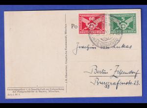 Dt. Reich Verkehrsausstellung 1925 Mi.-Nr. 370-71 auf Sammler-PK nach Berlin