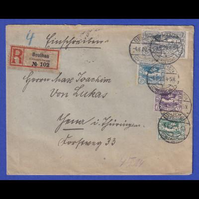 Dt. Abstimmung Oberschlesien R-Brief von Beuthen nach Jena, Juni 1920
