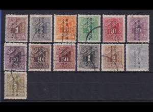Griechenland Bes. Türkei 1912-14 Portomarken Mi.-Nr. 1-13 I kpl. Satz O
