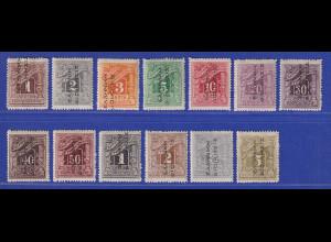 Griechenland Bes. Türkei 1912-14 Portomarken Mi.-Nr. 1-13 I kpl. Satz ungebr. *