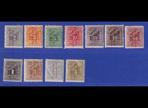 Griechenland Bes. Türkei 1912-14 Portomarken Mi.-Nr. 15-26 (ohne 19) ungebr. *