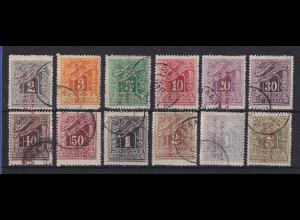 Griechenland Bes. Türkei 1912-14 Portomarken Mi.-Nr. 15-26 gestempelt