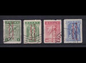 Griechenland Bes. Türkei 1912-14 Mi.-Nr. 38-41 I gestempelt