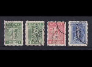 Griechenland Bes. Türkei 1912-14 Mi.-Nr. 18-21 I gestempelt