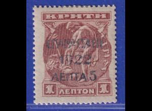 Griechenland 1923 unverausgabte 5L auf 1L Mi.-Nr. IIIb ungebraucht *