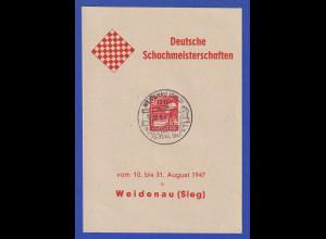 Deutsche Schachmeisterschaften 1947 Weidenau / Sieg Souv.-Karte mit Mi.-Nr. 945