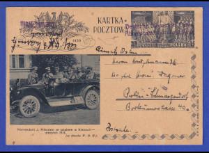 Deutsche Dienstpost Osten Abholpostamt Zdunska Wola Okt. 1939 interess. Karte