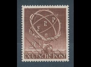 Berlin 1950 ERP-Marshallplan, PROBEDRUCK in brauner Farbe, geprüft Schlegel !